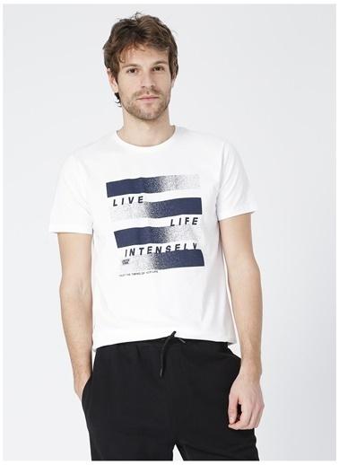 Limon Company Limon Bigger Beyaz Bisiklet Yaka Görsel Baskı Erkek T-Shirt Beyaz